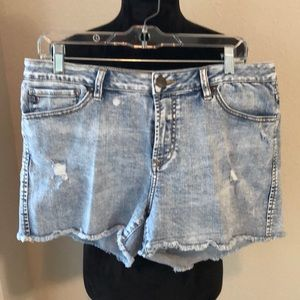 Dear John distressed light wash shorts